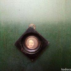 Antigüedades: MINIATURA DE CUADRITO CON IMAGEN, LACADO SIGLOXX. Lote 146286162