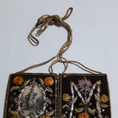 Antigüedades: ANTIGUO ESCAPULARIO DOBLE SIGLO XIX. Lote 146303372