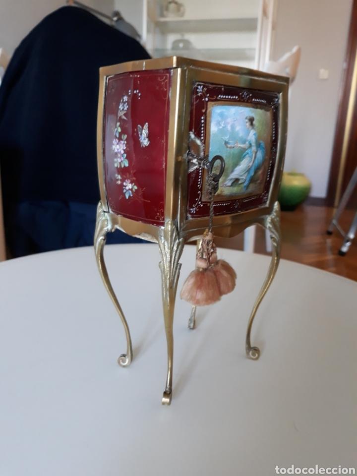 JOYERO ITALIANO ESMALTE ESTILO LIBERTY (Antiquitäten - Wohnen und Dekoration - Andere Dekoration)