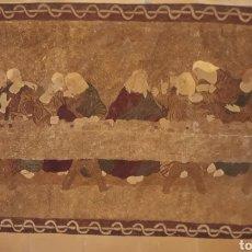 Antigüedades: GRAN TAPIZ DE LA SANTA CENA ELABORADO A MANO SIGLO XIX EN PERFECTO ESTADO. Lote 146315116