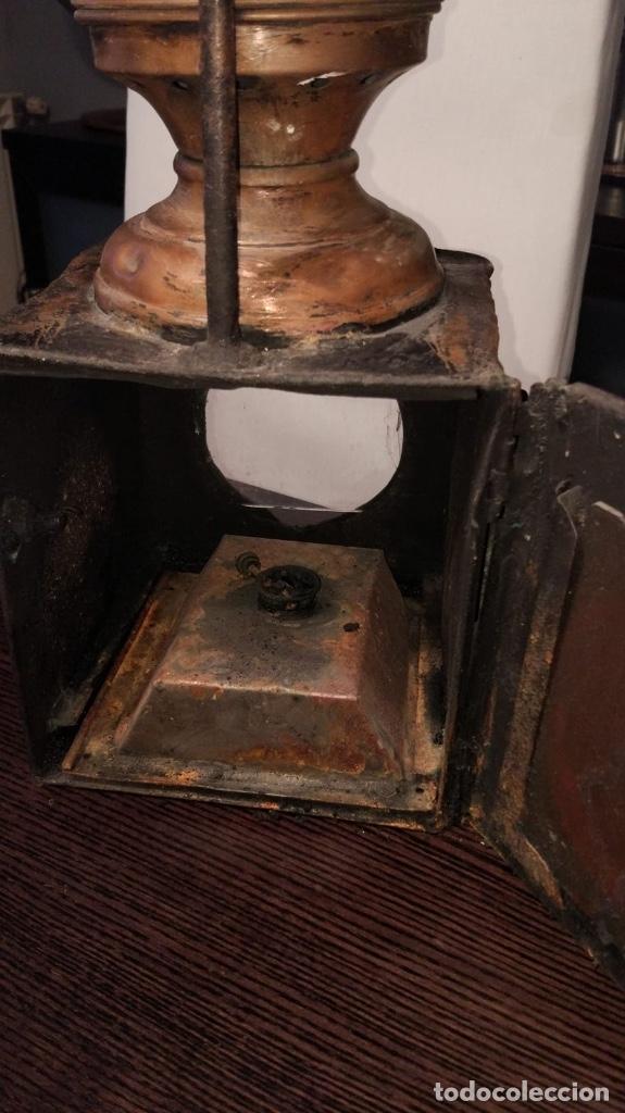 Antigüedades: Farol ferroviario tren - Foto 5 - 47045775