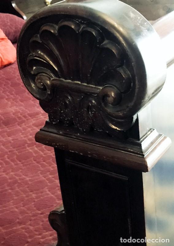 Antigüedades: Oferta... IMPRESIONANTE CAMA DE 1.50, DE BARCO O ARRIMO, CHAPADA EN CAOBA - Foto 9 - 146323674