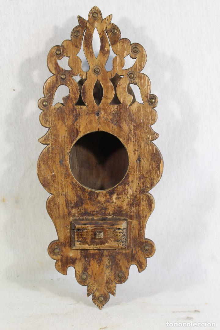 Antigüedades: repisa de madera - mueble para almirez - Foto 2 - 146324838