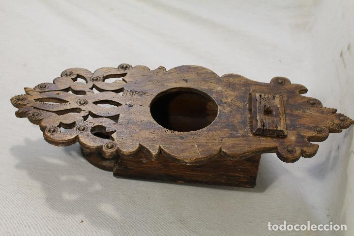 Antigüedades: repisa de madera - mueble para almirez - Foto 3 - 146324838