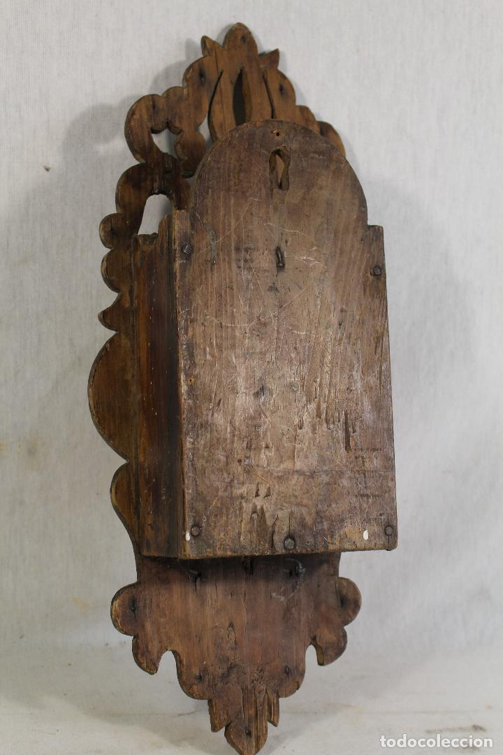 Antigüedades: repisa de madera - mueble para almirez - Foto 5 - 146324838