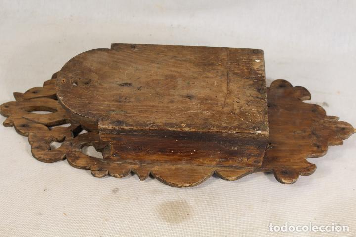 Antigüedades: repisa de madera - mueble para almirez - Foto 6 - 146324838