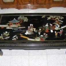 Antigüedades: MESA DE SOFA CHINA LACADA. Lote 146338382