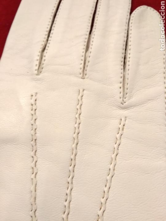 Antigüedades: Guantes de piel principio siglo XX - Foto 3 - 146342449