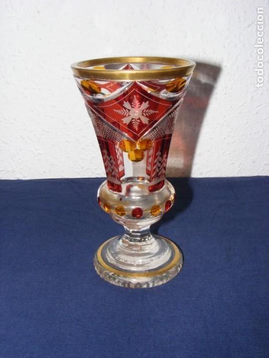 Antigüedades: JARRON TALLADO BOHEMIA - Foto 2 - 146343370