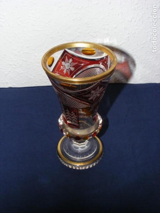Antigüedades: JARRON TALLADO BOHEMIA - Foto 4 - 146343370
