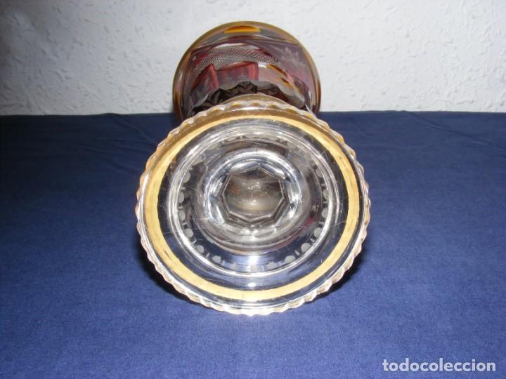 Antigüedades: JARRON TALLADO BOHEMIA - Foto 5 - 146343370