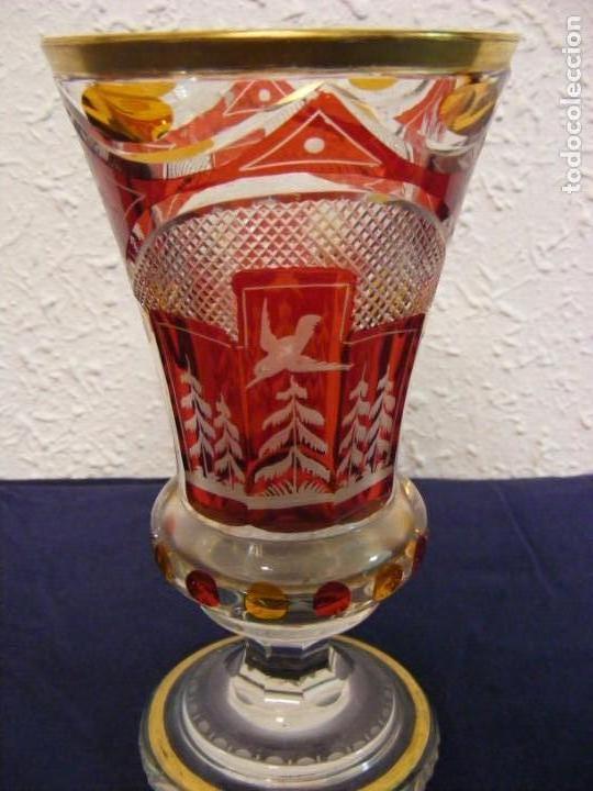 Antigüedades: JARRON TALLADO BOHEMIA - Foto 7 - 146343370