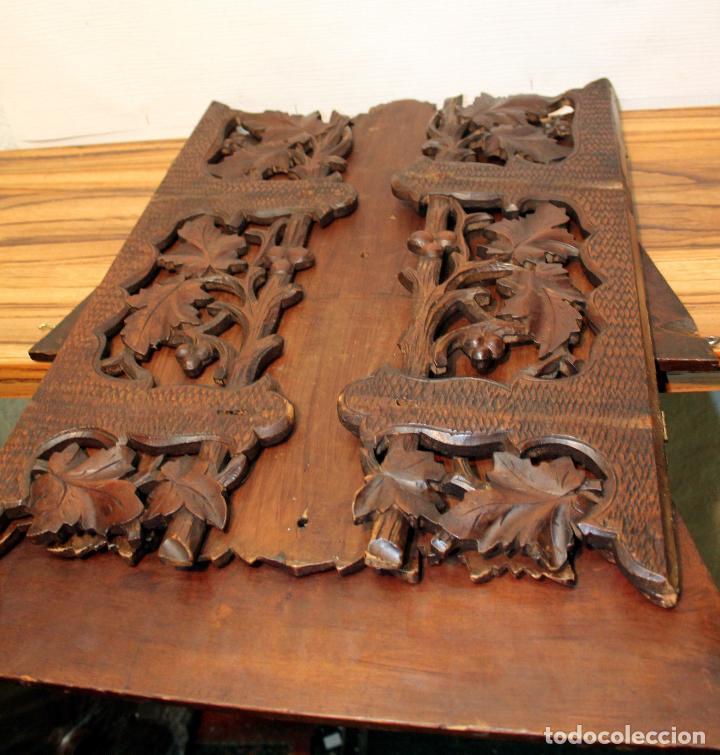 Antigüedades: ANTIGUA Y RARA ESTANTERIA EN MADERA NOBLE TALLADA SIGLO XIX PLEGABLE precio venta 431 ,0 0 eu I - Foto 2 - 146393718