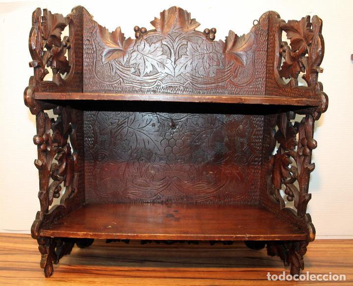Antigüedades: ANTIGUA Y RARA ESTANTERIA EN MADERA NOBLE TALLADA SIGLO XIX PLEGABLE precio venta 431 ,0 0 eu I - Foto 3 - 146393718