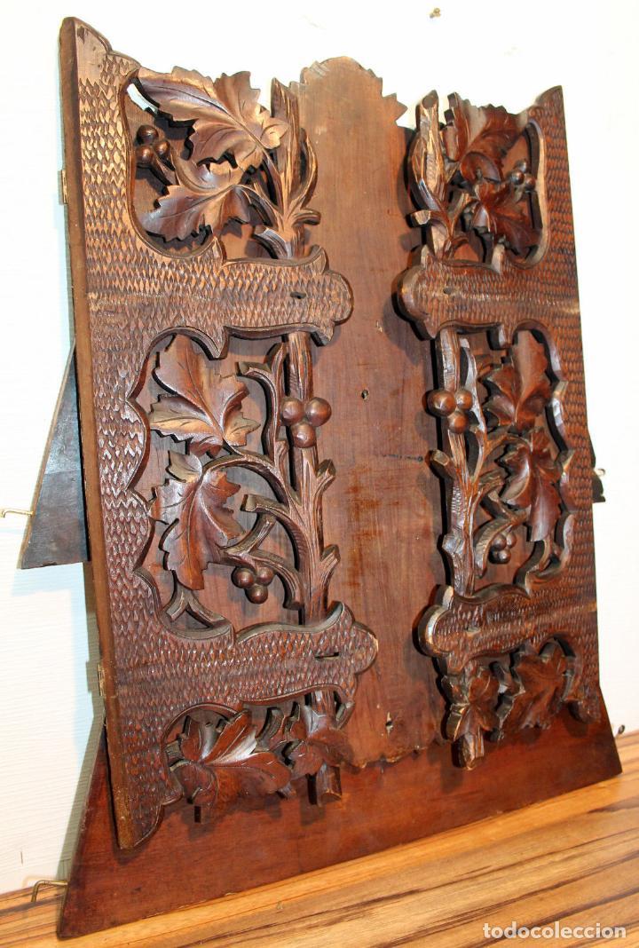 Antigüedades: ANTIGUA Y RARA ESTANTERIA EN MADERA NOBLE TALLADA SIGLO XIX PLEGABLE precio venta 431 ,0 0 eu I - Foto 4 - 146393718