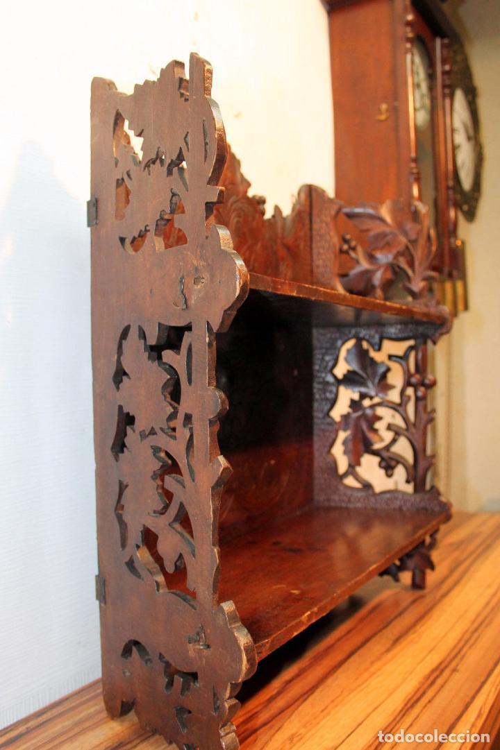 Antigüedades: ANTIGUA Y RARA ESTANTERIA EN MADERA NOBLE TALLADA SIGLO XIX PLEGABLE precio venta 431 ,0 0 eu I - Foto 5 - 146393718