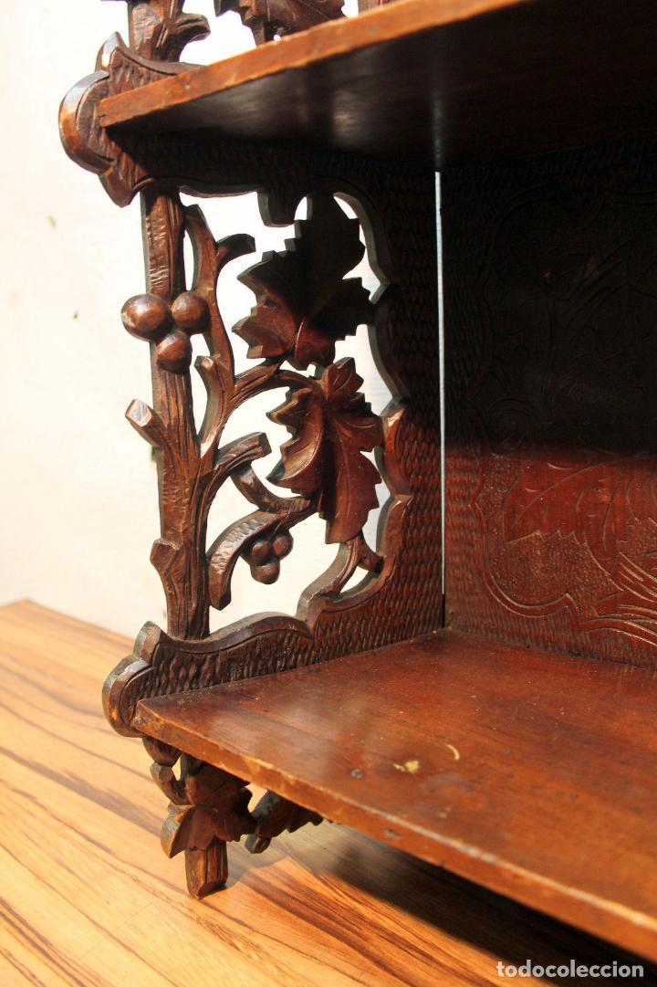 Antigüedades: ANTIGUA Y RARA ESTANTERIA EN MADERA NOBLE TALLADA SIGLO XIX PLEGABLE precio venta 431 ,0 0 eu I - Foto 7 - 146393718