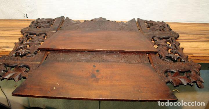 Antigüedades: ANTIGUA Y RARA ESTANTERIA EN MADERA NOBLE TALLADA SIGLO XIX PLEGABLE precio venta 431 ,0 0 eu I - Foto 8 - 146393718