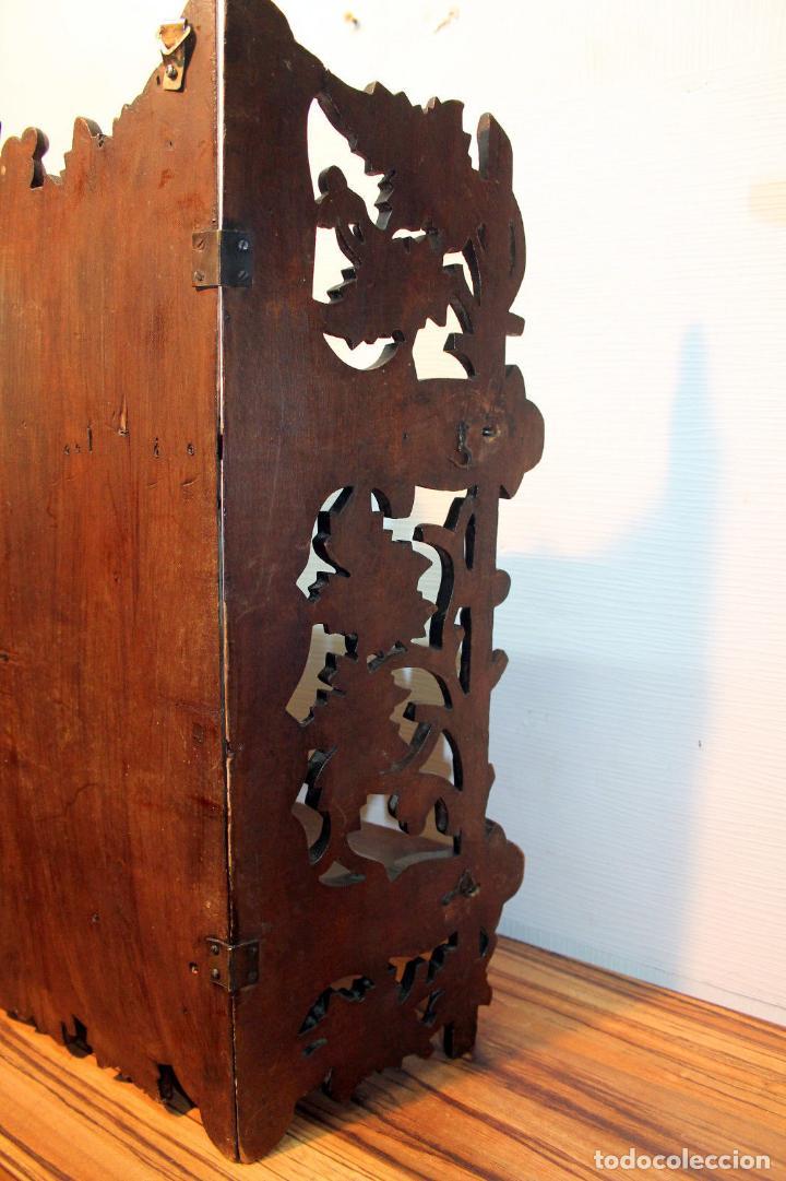 Antigüedades: ANTIGUA Y RARA ESTANTERIA EN MADERA NOBLE TALLADA SIGLO XIX PLEGABLE precio venta 431 ,0 0 eu I - Foto 9 - 146393718