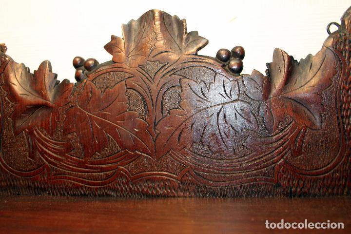 Antigüedades: ANTIGUA Y RARA ESTANTERIA EN MADERA NOBLE TALLADA SIGLO XIX PLEGABLE precio venta 431 ,0 0 eu I - Foto 11 - 146393718
