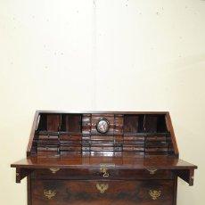 Antigüedades: ANTIGUO MUEBLE ESCRITORIO BUREAU DE CAOBA, SIGLO XIX. Lote 146398282