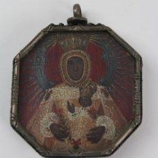Antigüedades: MINIATURA PINTADA A MANO SOBRE COBRE . 2 IMAGENES. S.XVII. VIRGEN DEL SAGRARIO. PATRONA DE TOLEDO. Lote 146400774