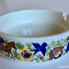 Antigüedades: CENICERO VILLEROY&BOCH TROUBADOUR VITRO PORCELANA LUXEMBOURG. Lote 146407742