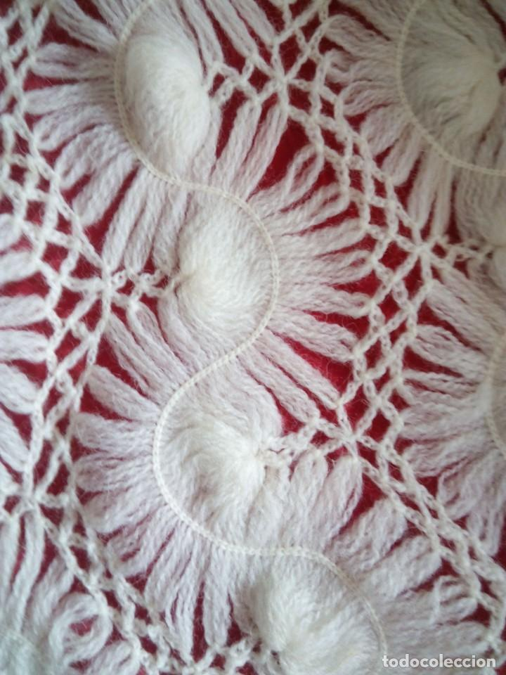 Antigüedades: Chal de pura lana ( antiguo ) - Foto 3 - 146903516