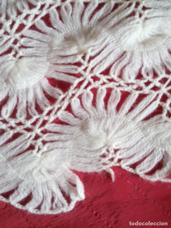 Antigüedades: Chal de pura lana ( antiguo ) - Foto 4 - 146903516