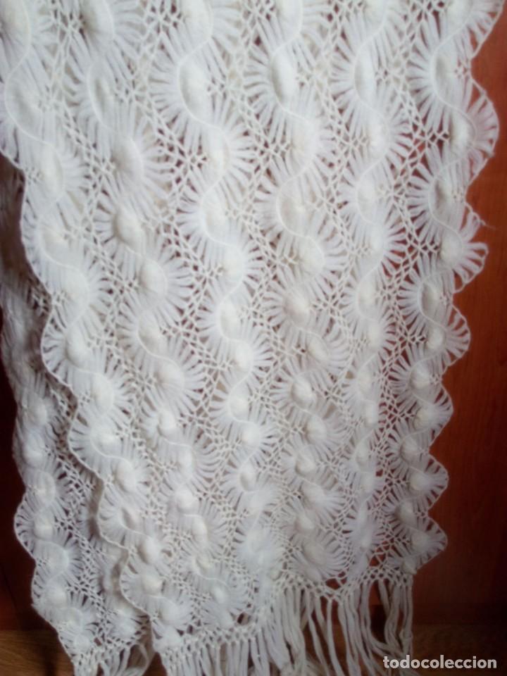 Antigüedades: Chal de pura lana ( antiguo ) - Foto 6 - 146903516