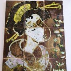 Antigüedades: RUIZ DE LUNA - GEISHA - GRAN COMPOSICIÓN. Lote 146422534