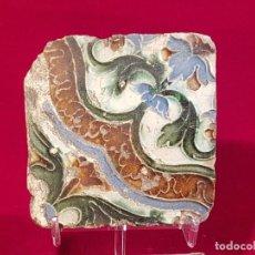 Antigüedades: AZULEJO MUDEJAR TRIANA O TOLEDO SIGLO XVI. Lote 146423362