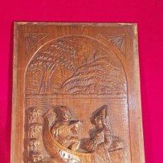 Antigüedades: PLAFÓN MADERA ROBLE TALLADA SIGLO XIX. Lote 146428958