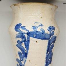 Antigüedades: MAGNIFICO ALBARELO ,TARRO DE FARMACIA DE TALAVERA,ARAGON,TERUEL,S. XVII-XVIII. Lote 146433114