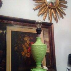 Antigüedades: LAMPARA ANTIGUA CERÁMICA MANISES CH HISPANIA DECORACION VINTAGE .. Lote 146433134