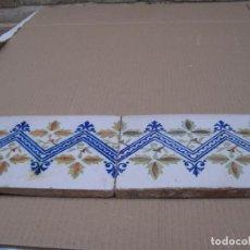 Antigüedades: LOTE DE 2 AZULEJOS ANTIGUOS DE MANISES / VALENCIA. S/ XIX -XX.. Lote 146433978