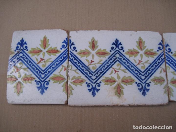Antigüedades: LOTE DE 4 AZULEJOS ANTIGUOS DE MANISES / VALENCIA. S/ XIX -XX. / 3 - Foto 2 - 146435230