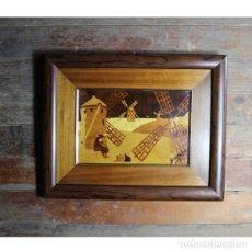 Antigüedades: ANTIGUO CUADRO MAQUETERÍA. Lote 146450738