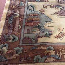 Antigüedades: ALFOMBRA ART DECO DE LOS AÑOS 20 CHINA MUY CUIDADA, ARTÍCULO DE COLECCIONISMO. Lote 146318068