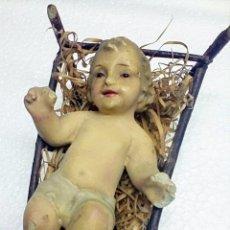 Antigüedades: ANTIGUO NIÑO JESÚS / OJITOS CRISTAL. Lote 146458154