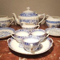 Antigüedades: LOTE DE 10 PIEZAS DE CAFE DE PORCELANA SANTA CLARA / SAINT CLAIRE CHINA BLAU. PRIMERA MITAD SIGLO XX. Lote 146459037