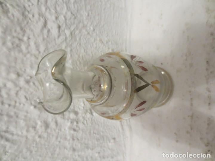 BOTELLA DE CRISTAL PINTADA (Antigüedades - Cristal y Vidrio - Baccarat )