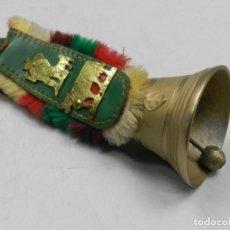 Antigüedades: ANTIGUAS CAMPANAS DE BRONCE SOBREMESA SUIZA EXCELENTE PIEZA DE COLECCIÓN. Lote 146475494