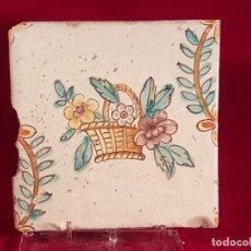 Antigüedades: AZULEJO GRANDE VALENCIA S XVIII. Lote 146485070