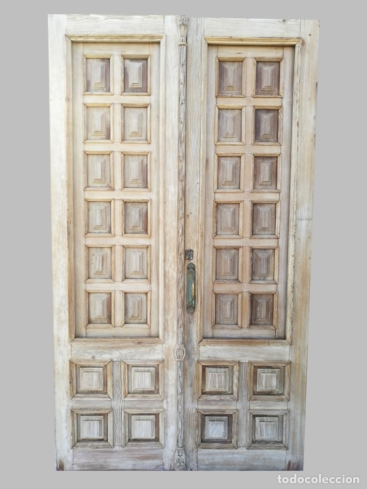 Puerta antigua de interior de cuarterones comprar for Puertas de cuarterones antiguas