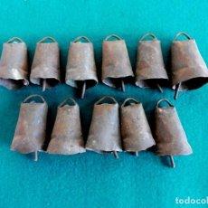 Antigüedades: LOTE DE 11 CENCERROS. Lote 146495102