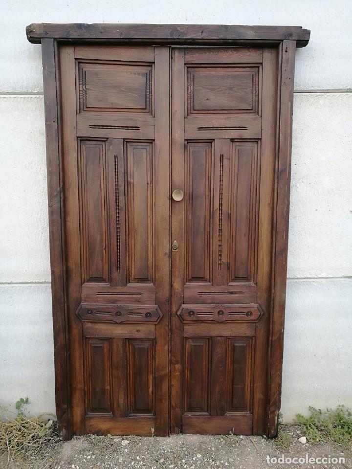 Antigüedades: Puerta antigua de interior - Foto 5 - 119482675