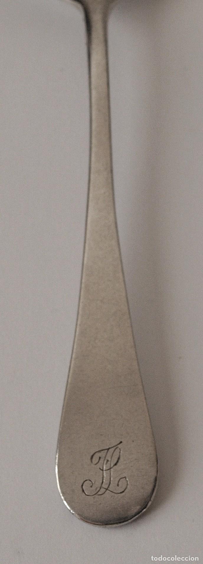 Antigüedades: CUCHARA DE PLATA DE LEY CONTRASTADA. S XIX. 71 GRAMOS. 18,7 CM LARGO. VER FOTOS Y DESCRIPCION - Foto 3 - 146505882