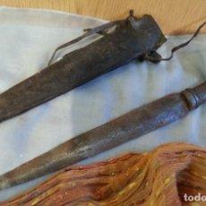 Antigüedades: PUÑAL, CUCHILLO AFRICANO. CENTENARIO. CUCHILLO DE COMBATE DE KENIA.. Lote 146521278