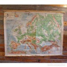 Antigüedades: ANTIGUO MAPA FÍSICO DE EUROPA. Lote 146559406